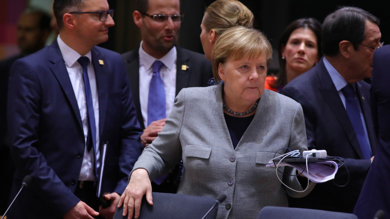 Belgien, Brüssel: Angela Merkel beim EU-Sondergipfel zum europäischen Haushaltsrahmen.