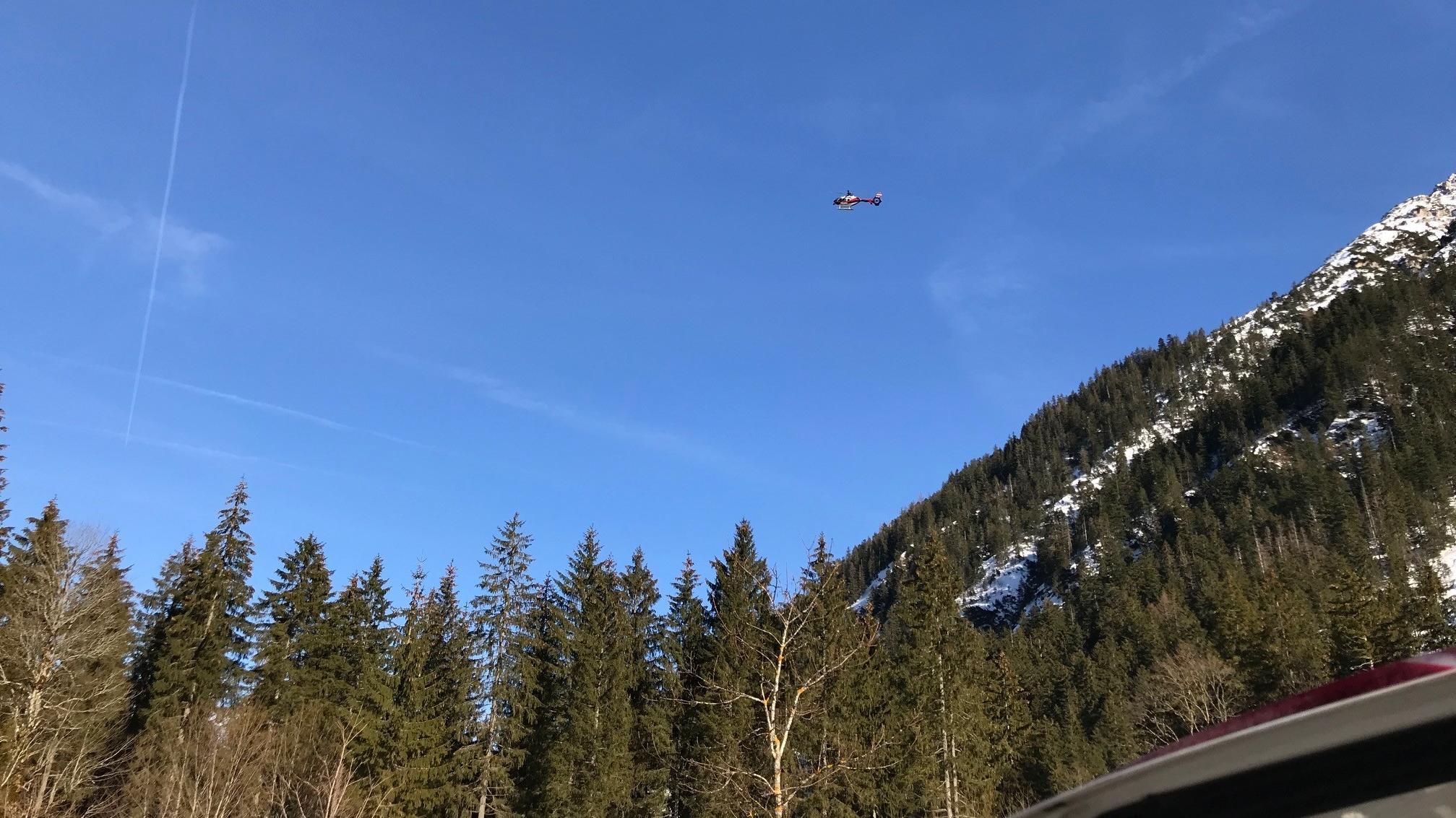 Das Lawinengebiet ist nur mit Hubschraubern erreichbar
