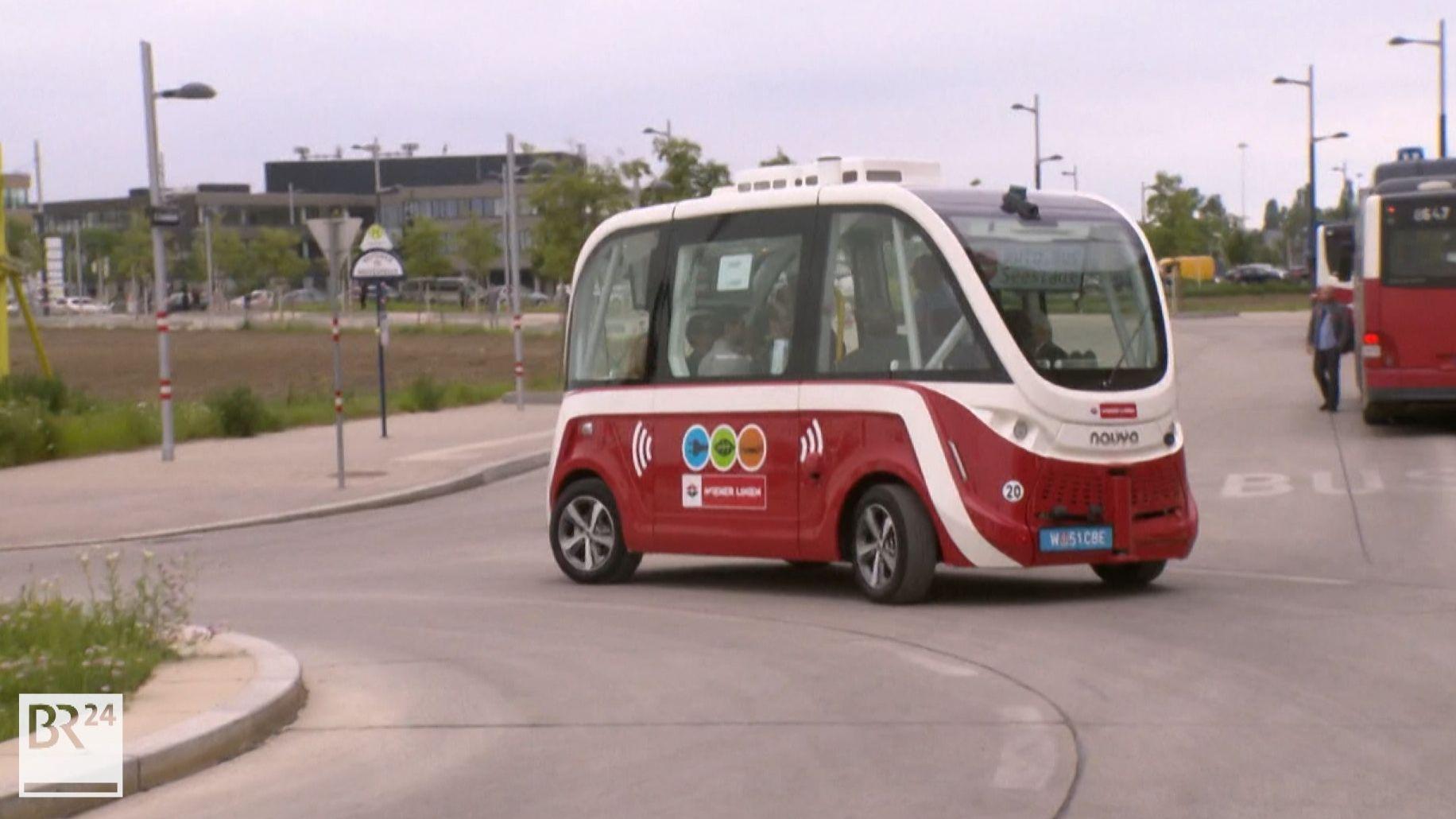 Fahrerlose E-Busse in Wien