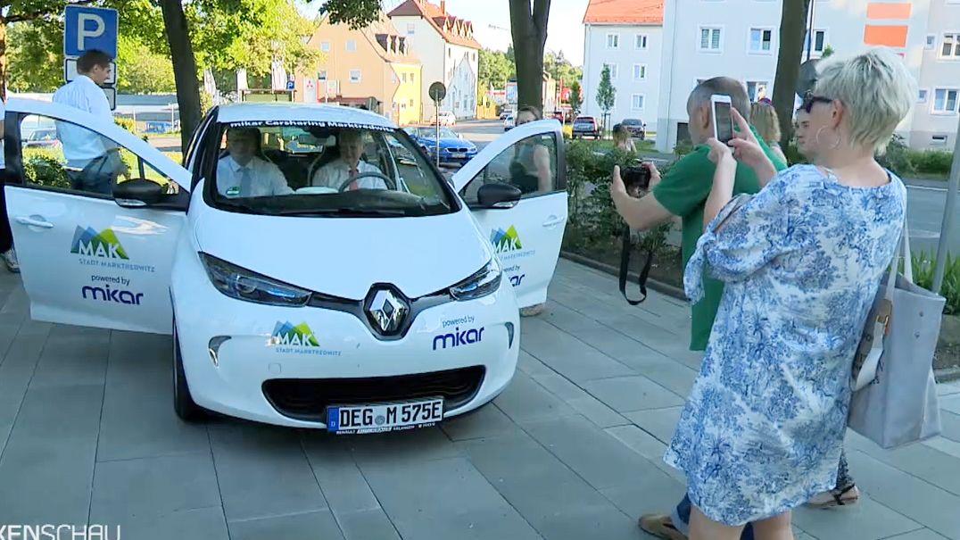 In Selb und Marktredwitz gibt es insgesamt drei Carsharing-Fahrzeuge, eines davon ist ein Eloktroauto (Bild)