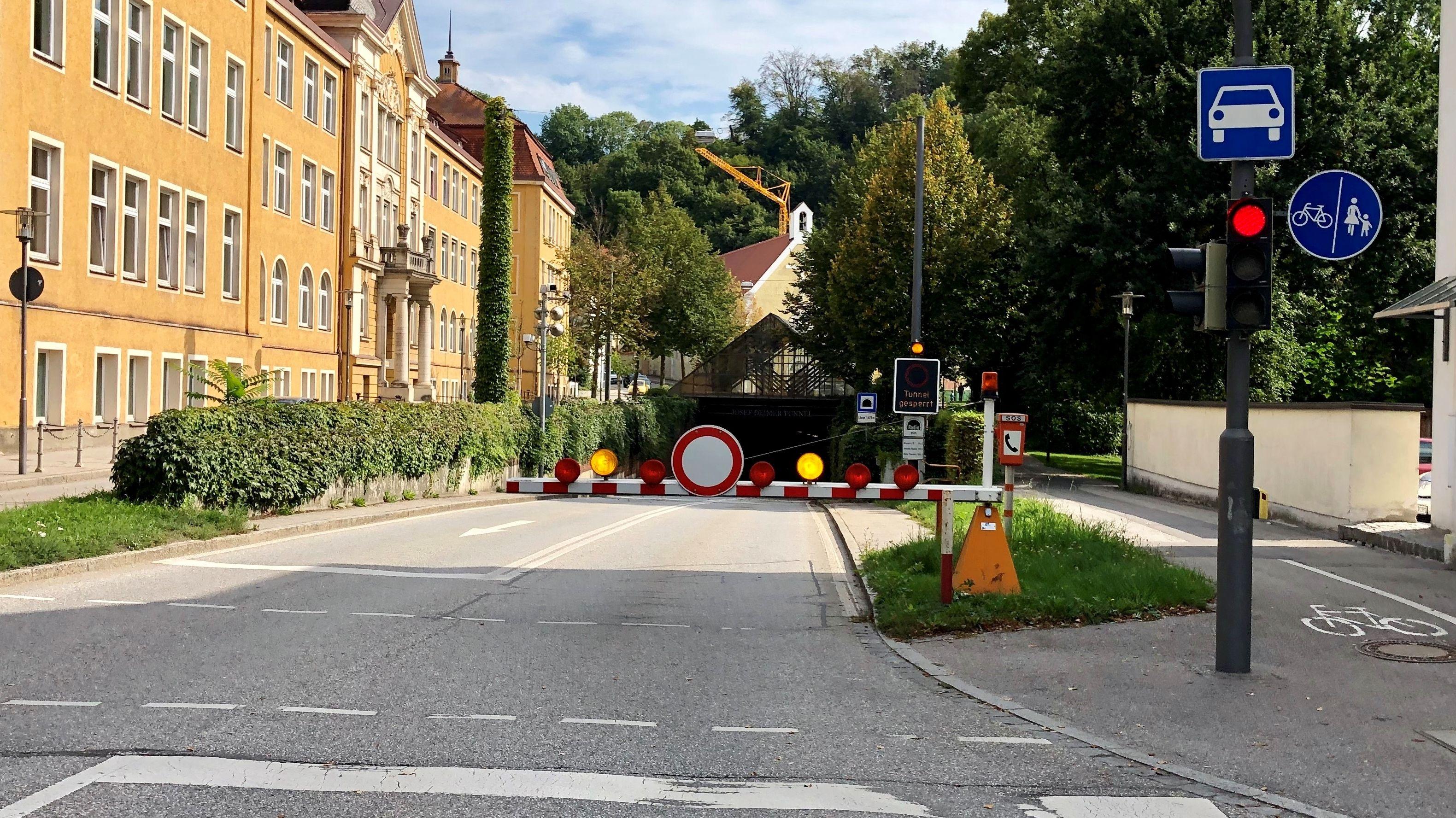 Josef-Deimer-Tunnel in Landshut wieder befahrbar