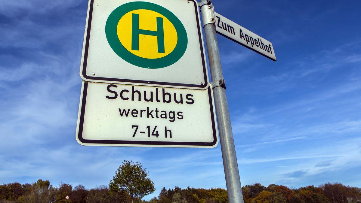 Schulbus-Haltestelle