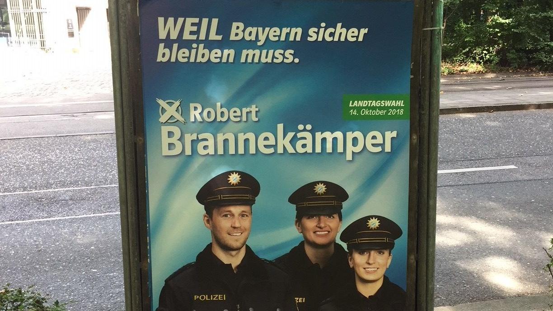 Wahlplakat von CSU-Kandidat Brannekämper