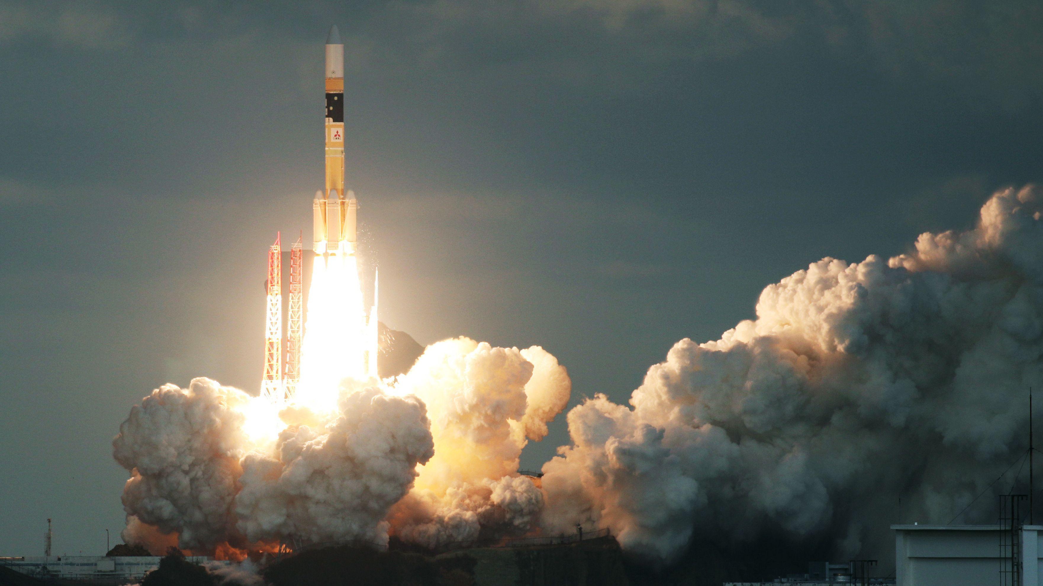 Start einer Rakete