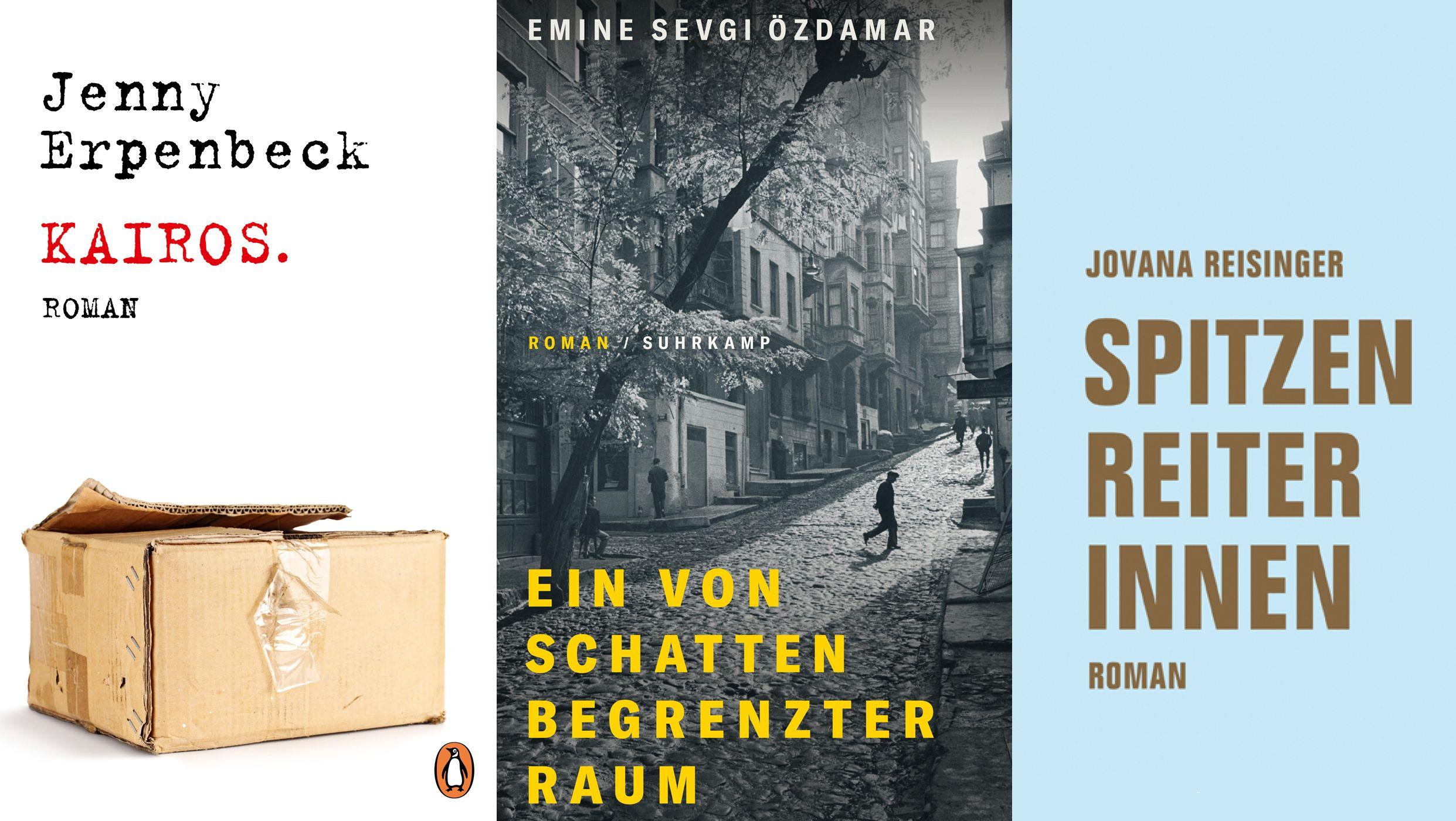 Die drei Cover der nominierten Romane.