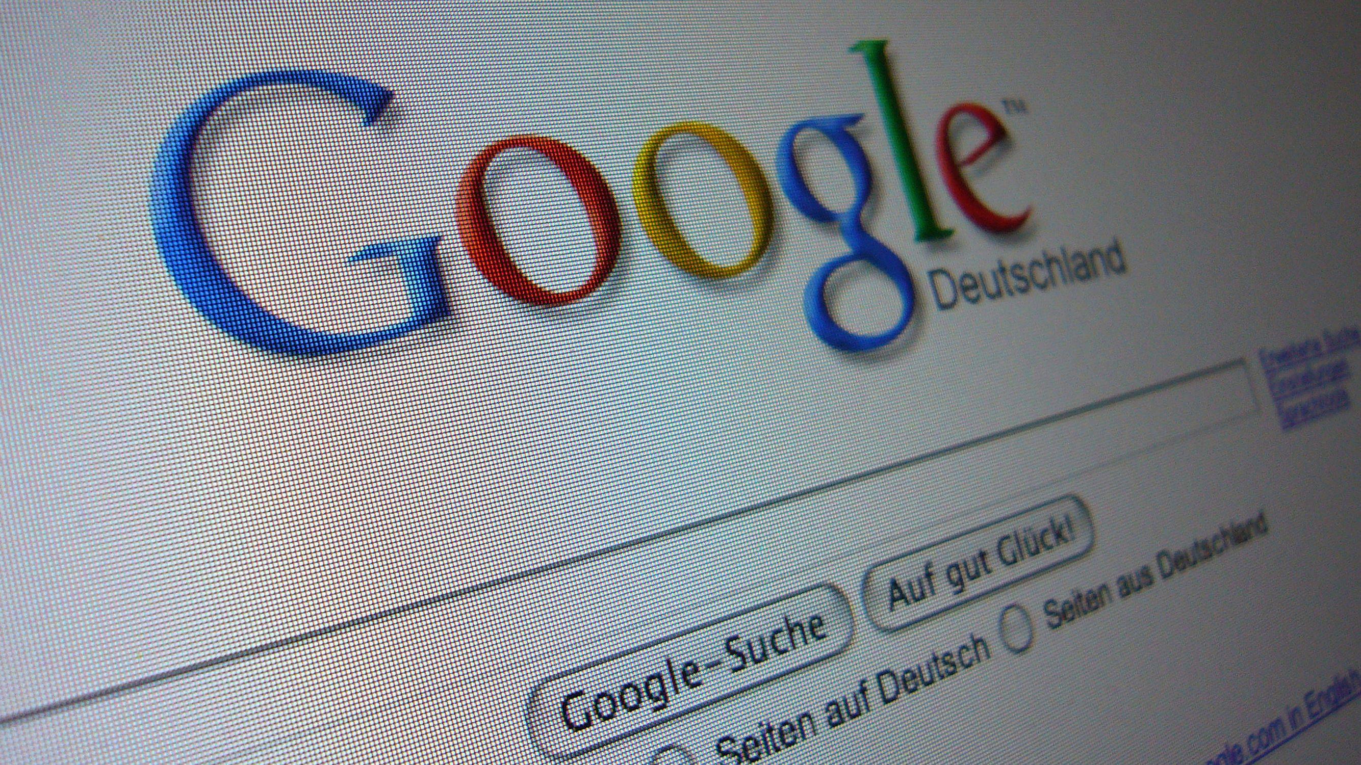 Screenshot der Startseite der Google-Suchmaschine.