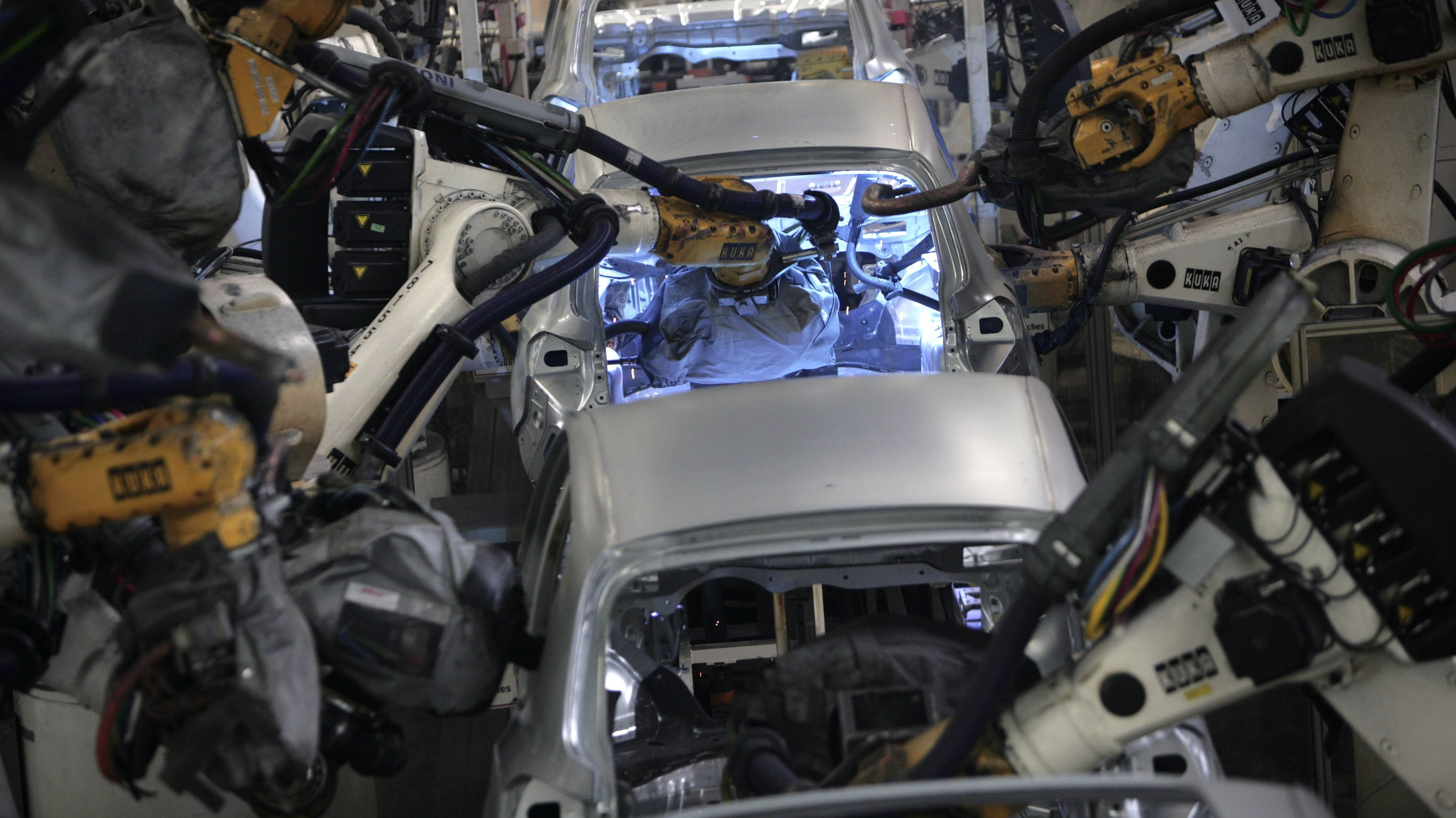 Produktionsstraße VW