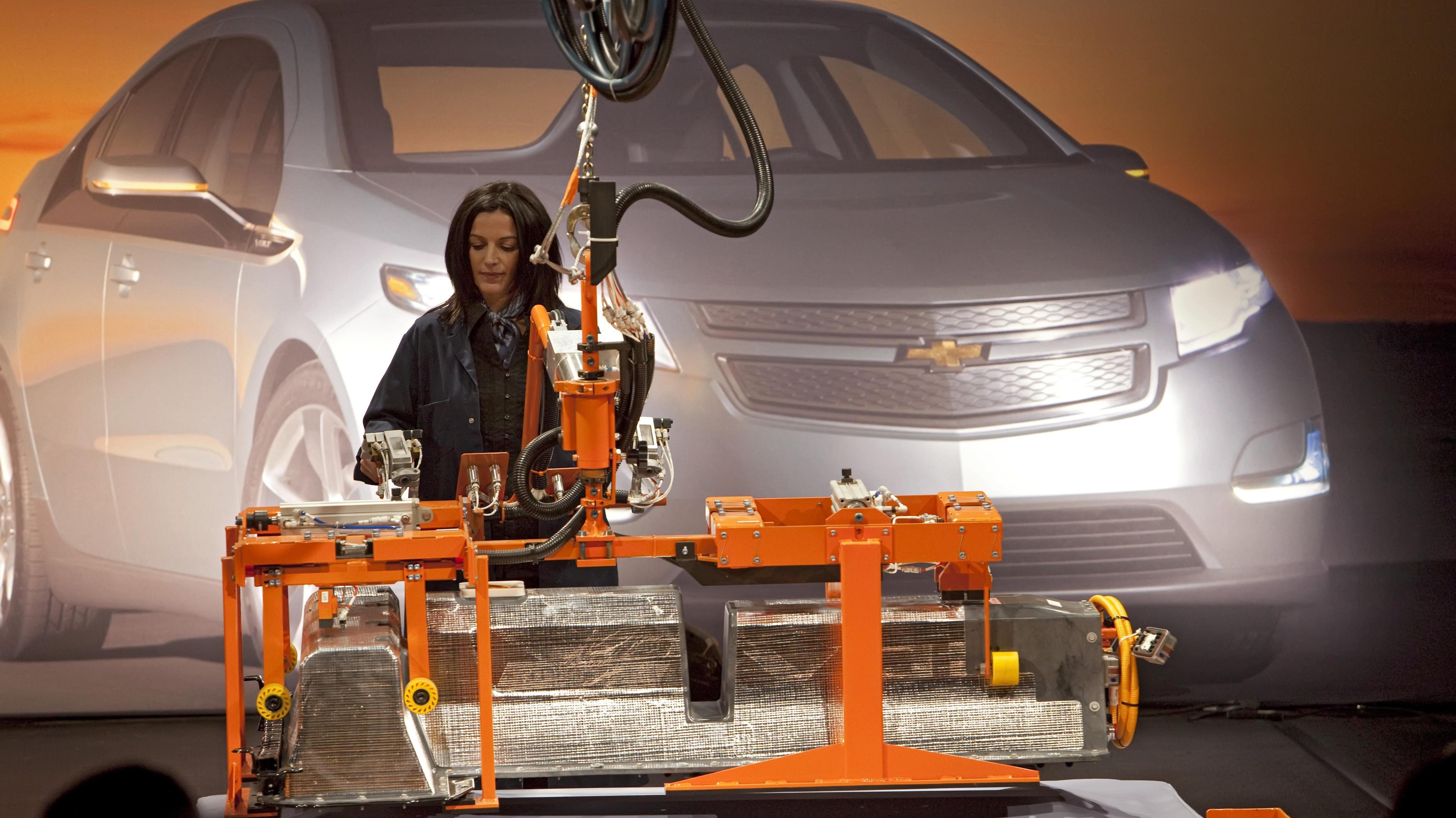 Produktion von Elektroautos