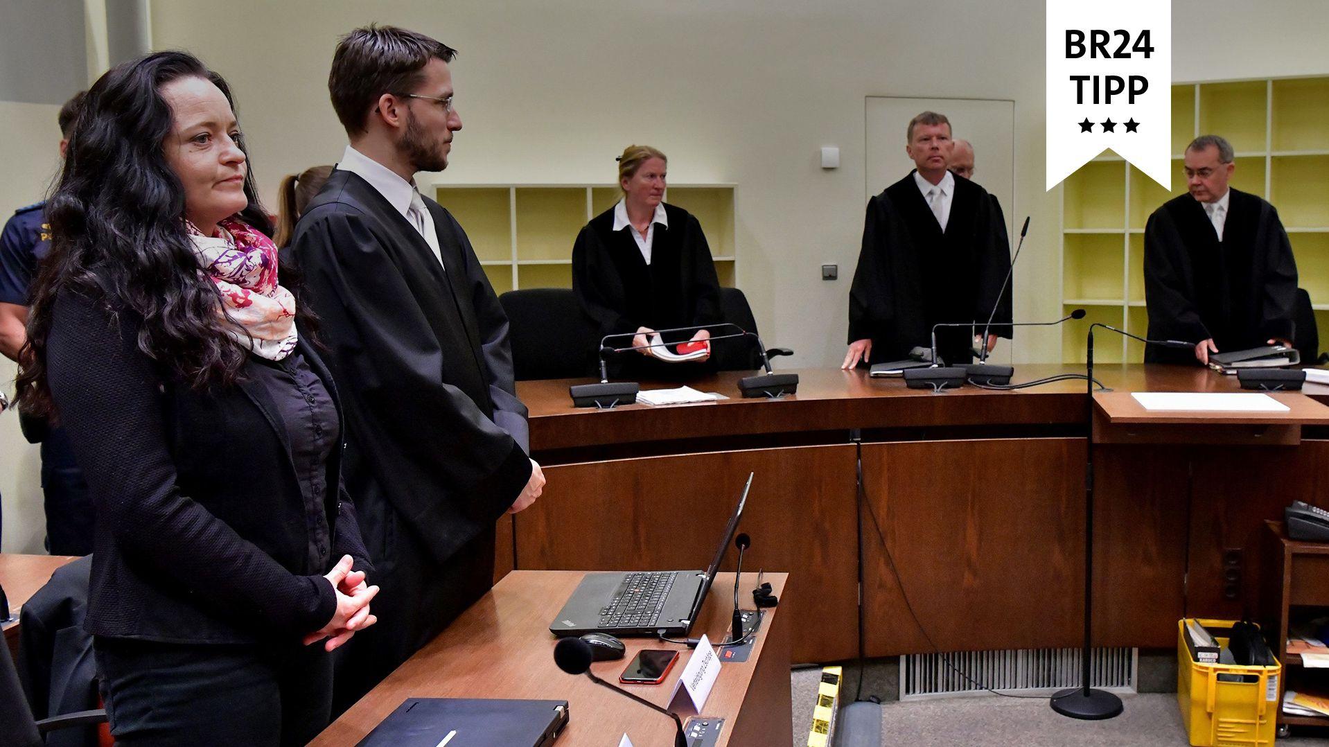 Die Hauptangeklagte im NSU-Prozess, Beate Zschäpe