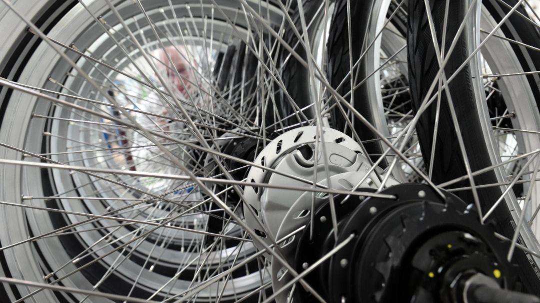 Blick in einen Fahrradladen