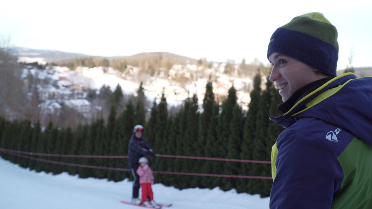 David Haas hat beim Skilift-Bau geholfen