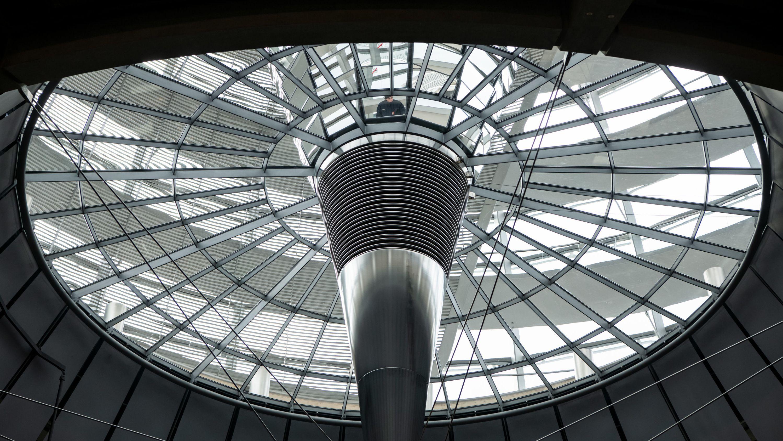 Die Kuppel des Deutschen Bundestages.
