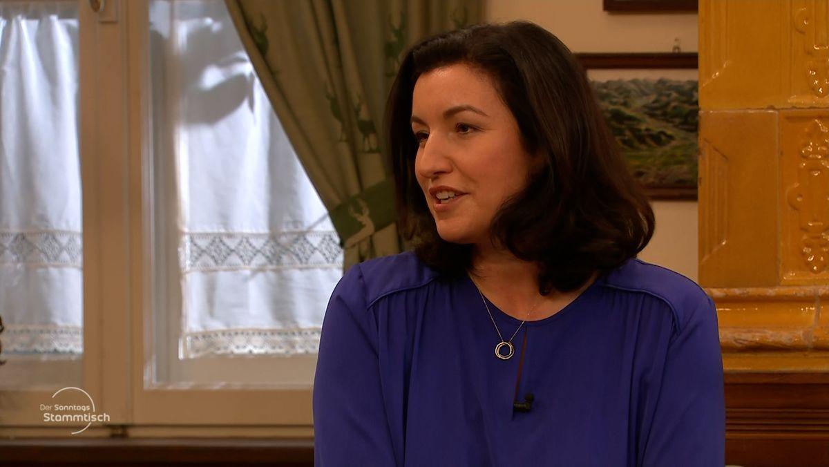 CSU-Politikerin Dorothee Bär beim BR Sonntagsstammtisch