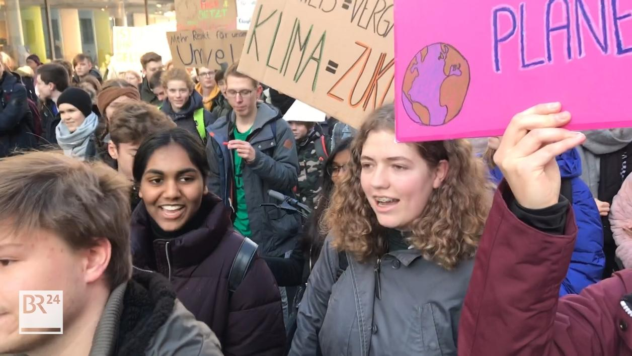 Schülerstreik zum Klima in Würzburg