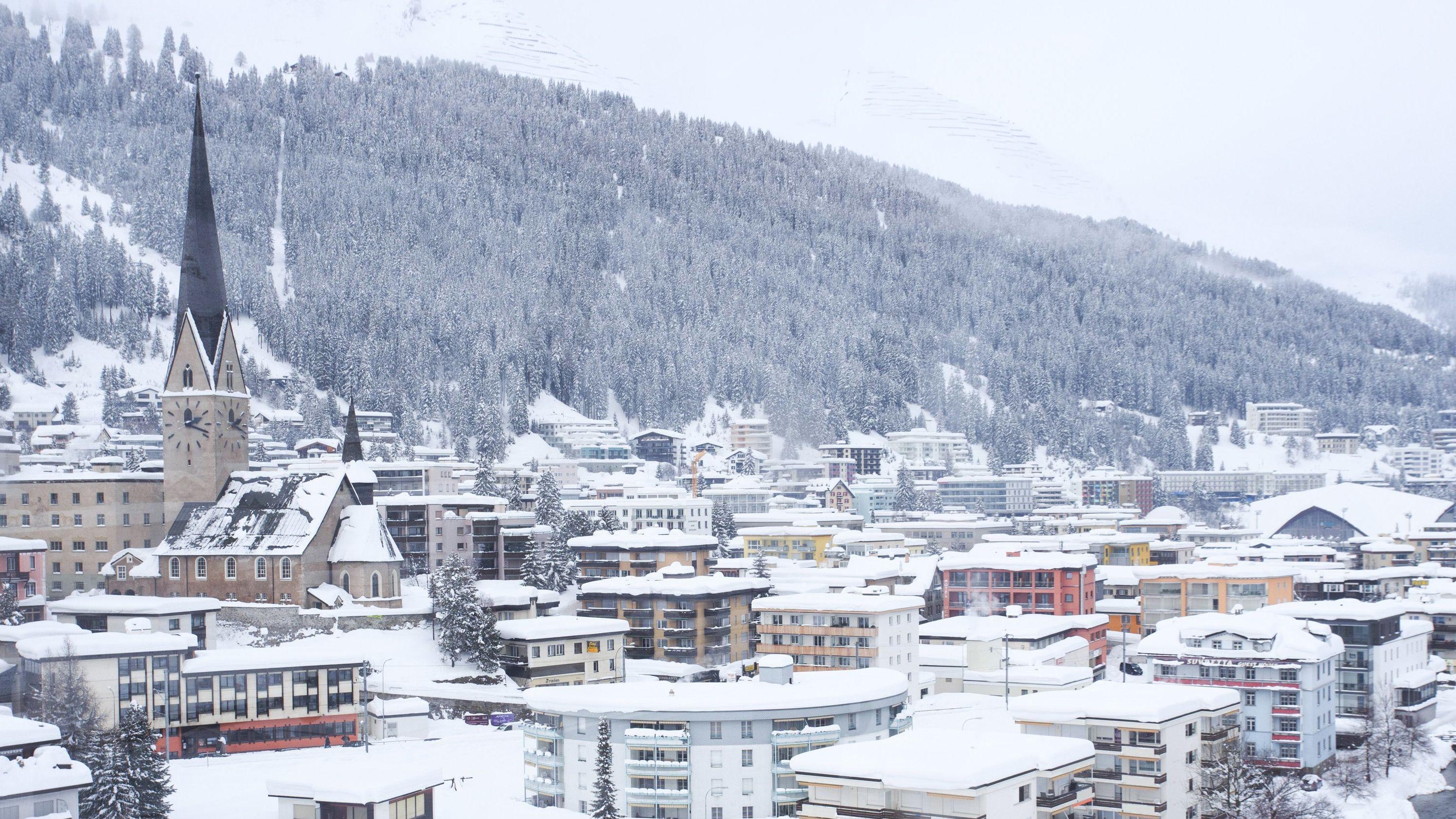 Das verschneite Davos (Archivbild)