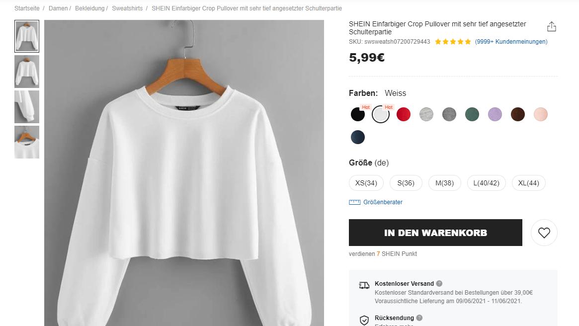 Ein einfacher Pullover auf Shein - für unter 6 Euro