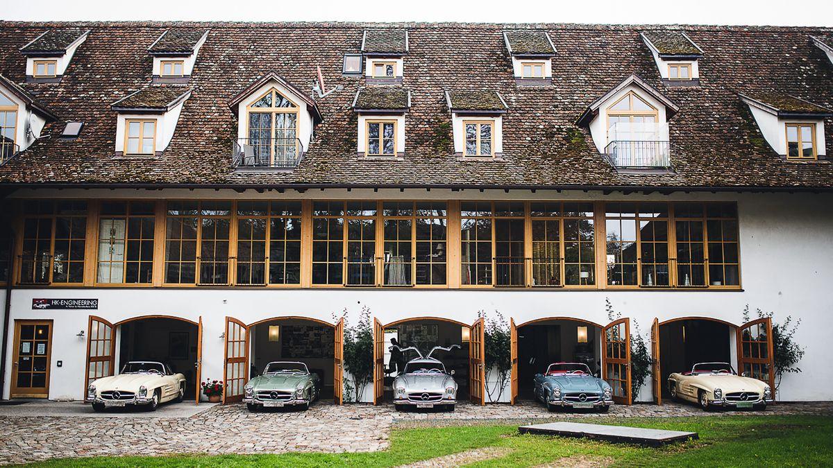 Im Innenhof des ehemaligen Wirtschaftstrakt von Kloster Polling.