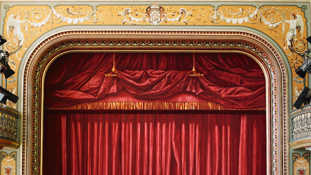 Theatervorhang eines Theaters