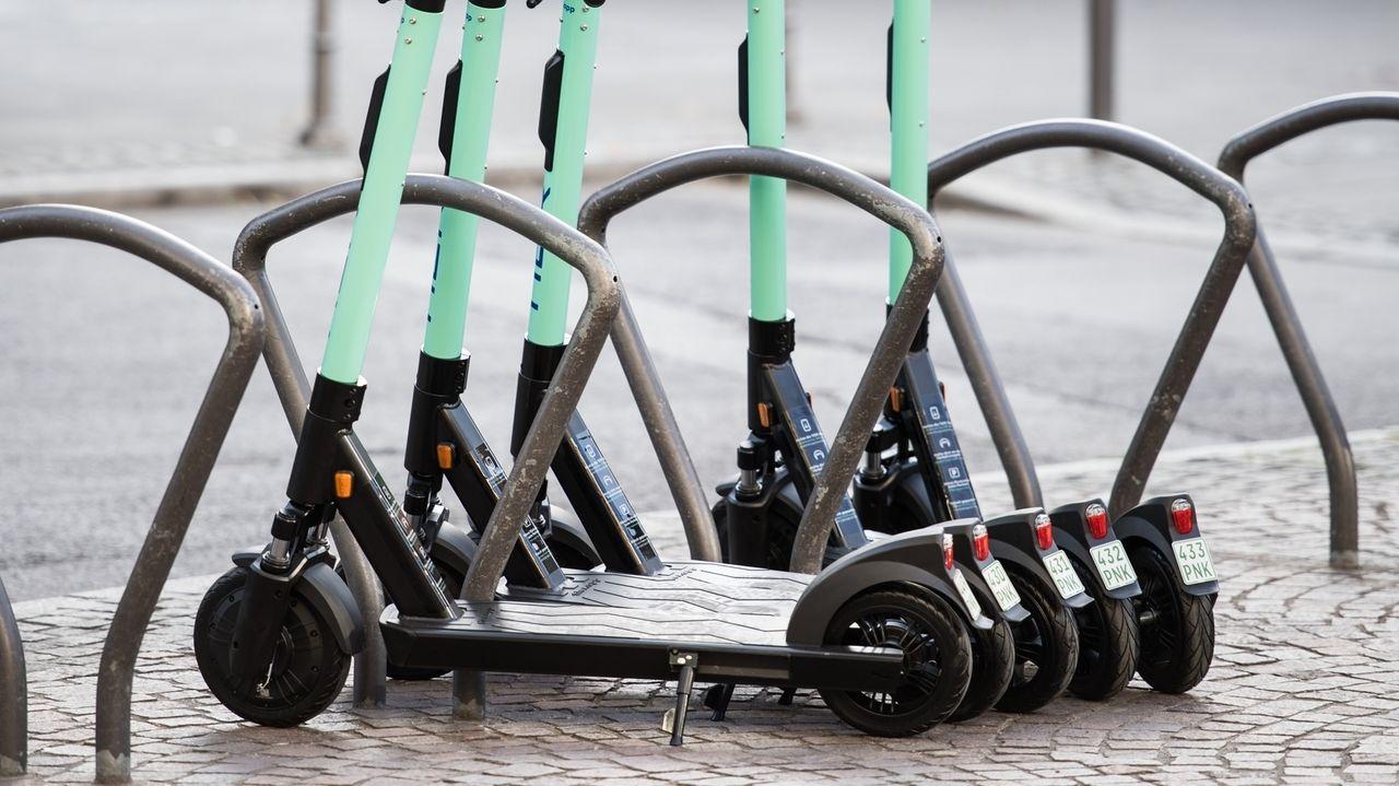 E-Roller in der Stadt