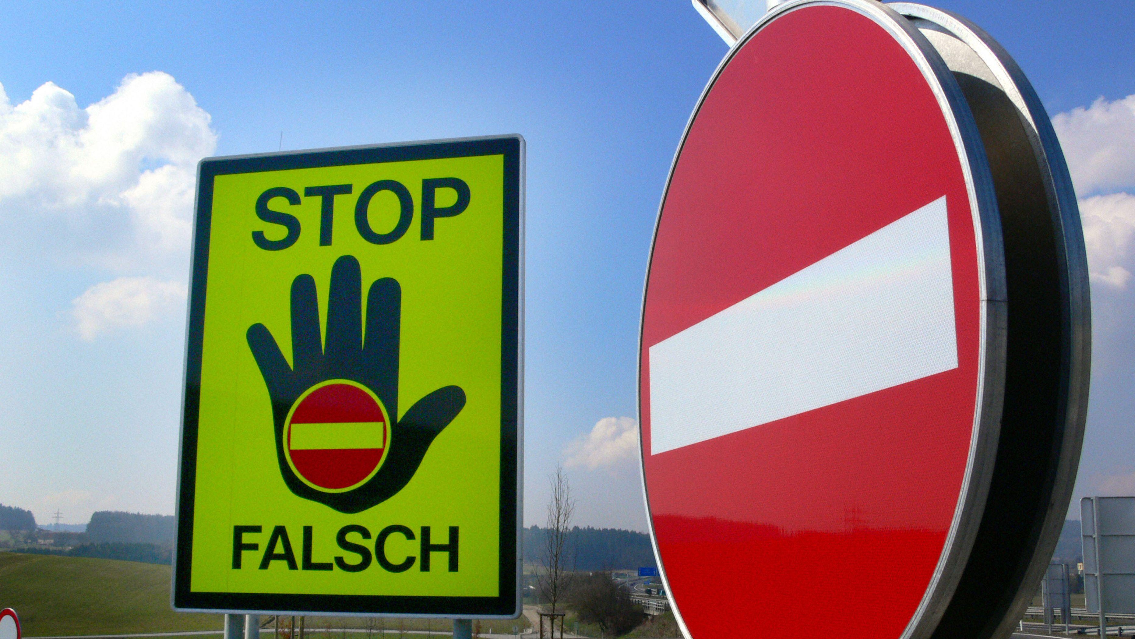 Falschfahrerwarnung
