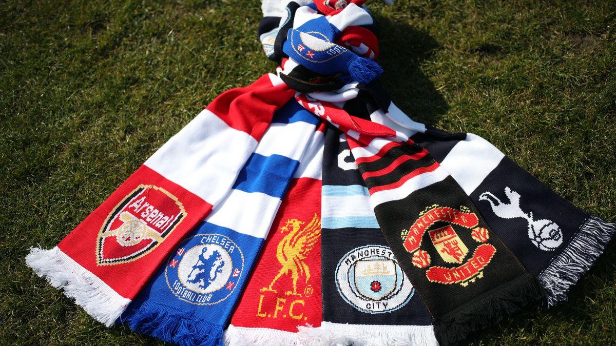 Die Schals der englischen Klubs, die sich der Super League anschließen wollten