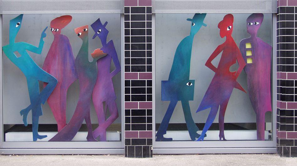 Schaufensterfront des Lettl-Museums