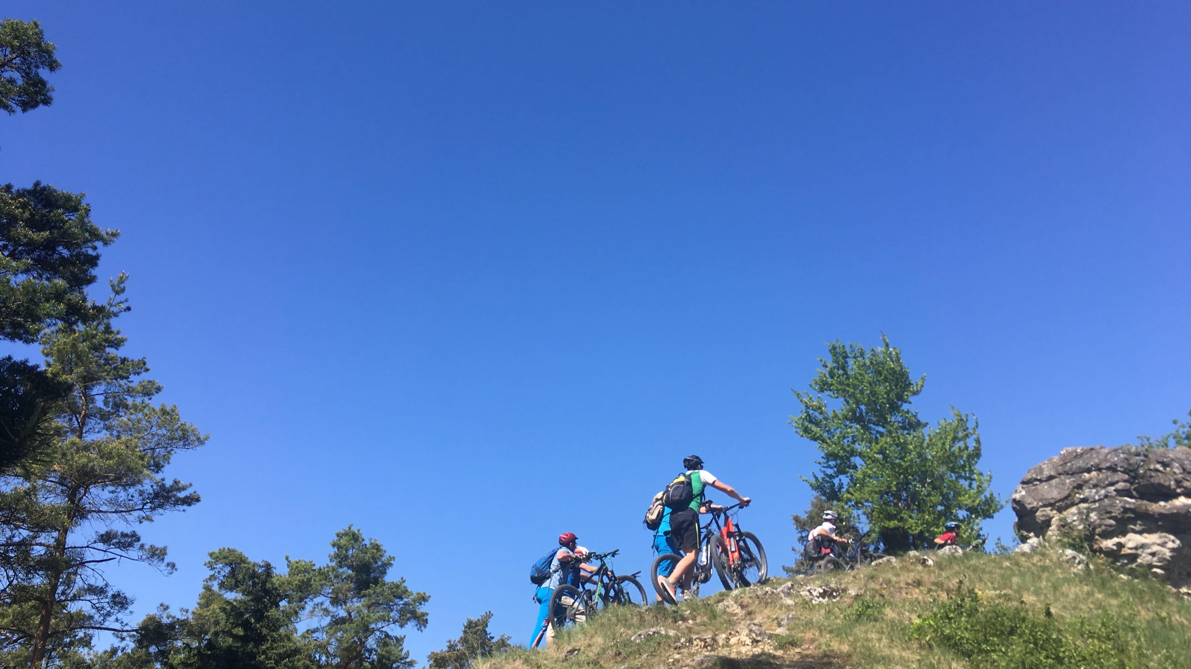 Männermountainbike-Kurs im Altmühltal