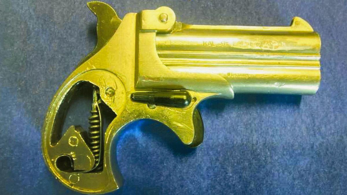 Sichergestellte Schusswaffe