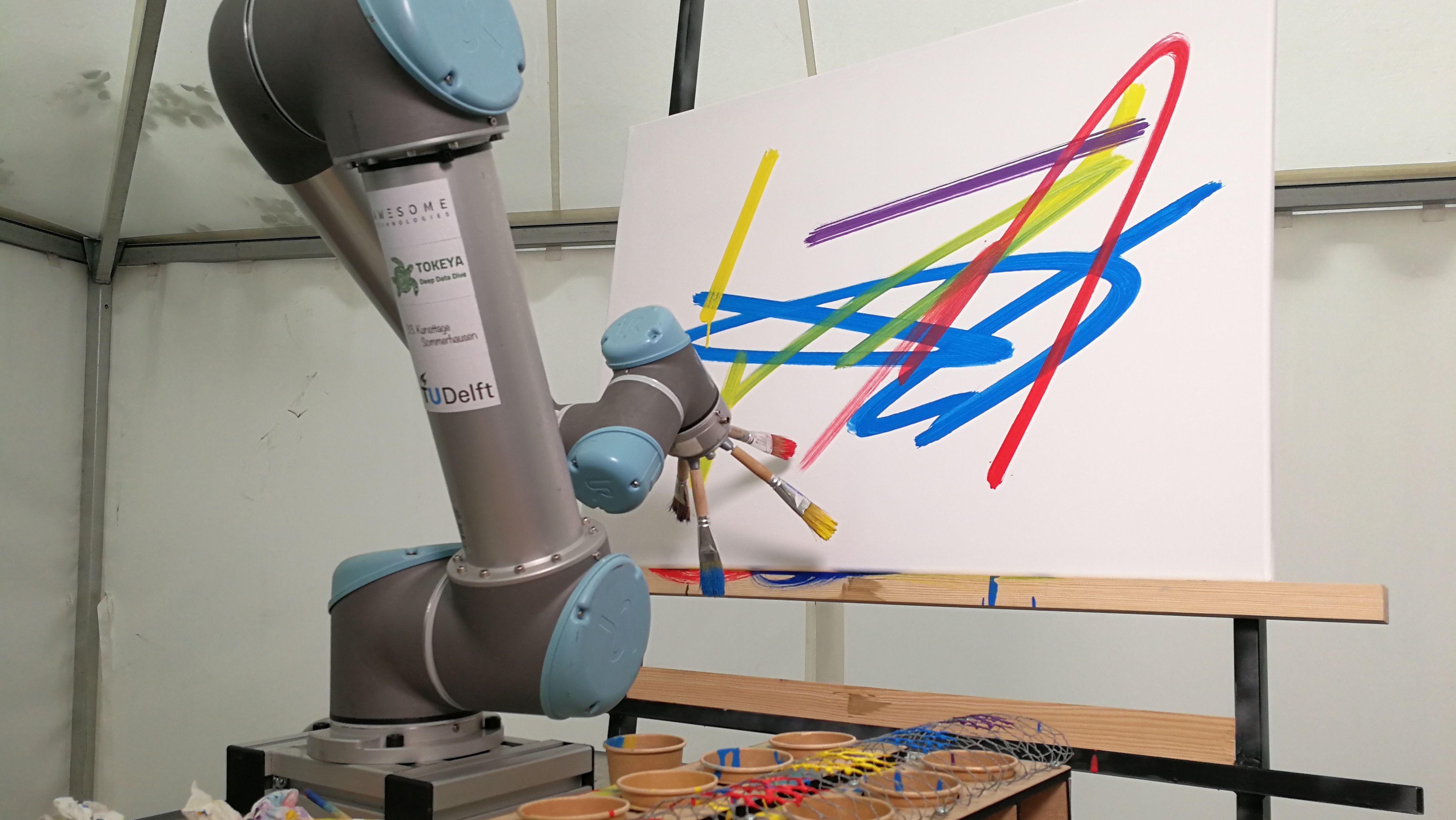 Malender Roboter in Sommerhausen