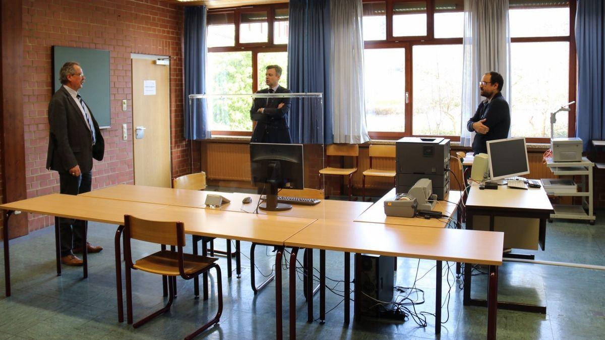 Der Werkstatt-Bereich der August-Horch-Berufsschule.