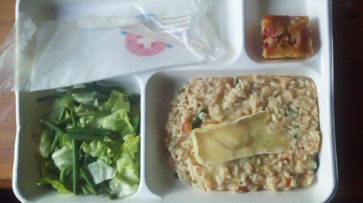 Das Essen, das in der Südtiroler Biasi-Kaserne serviert wird.