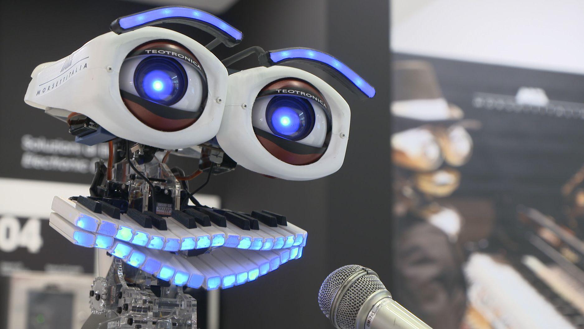 Roboter beantwortet Fragen