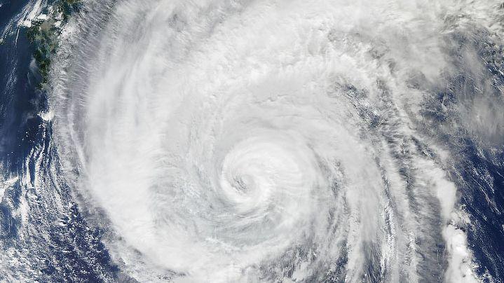 Satellitenaufnahme des Taifuns Hagibis
