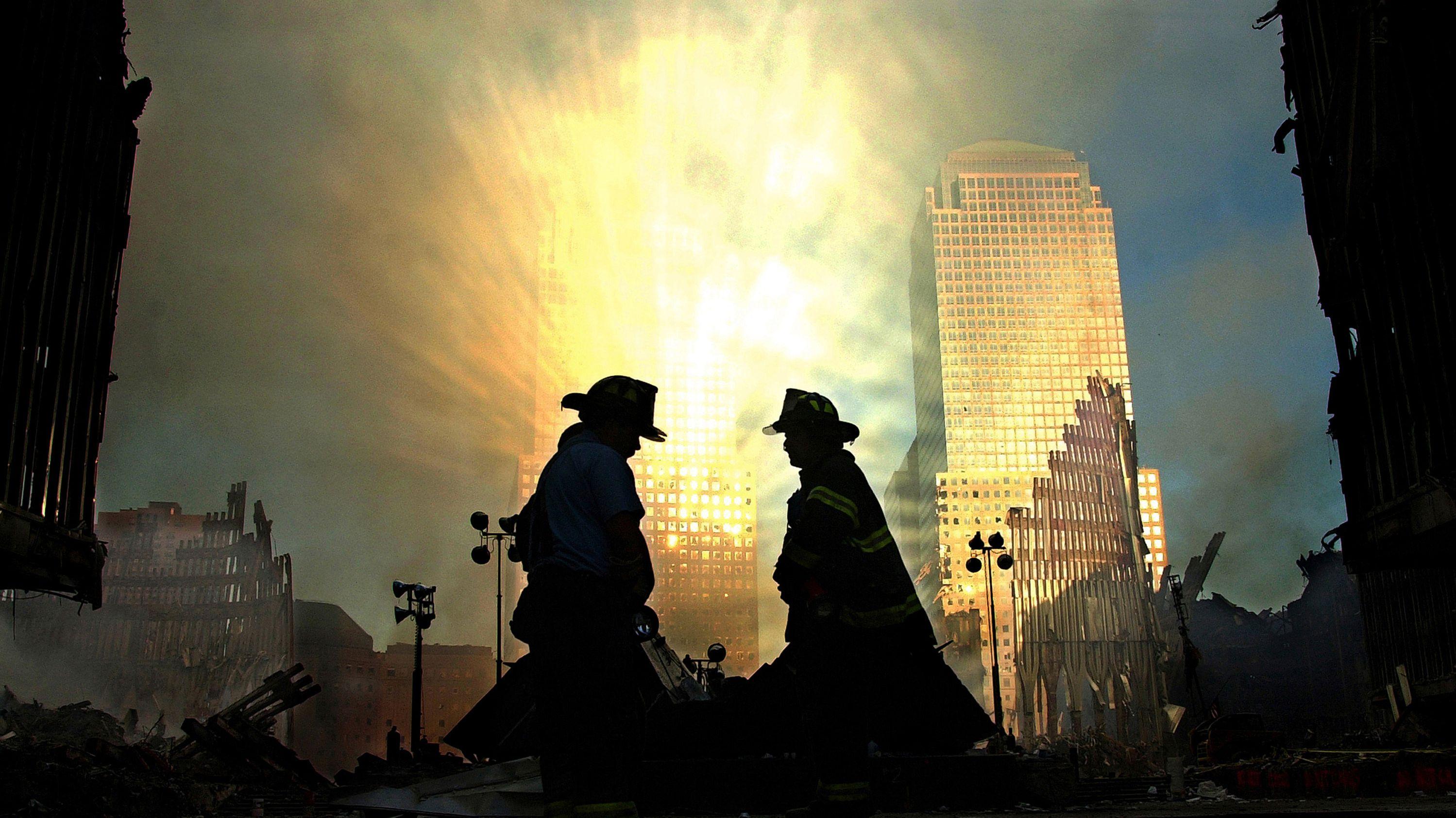 Feuerwehrleute vor Ground Zero (Archivbild)