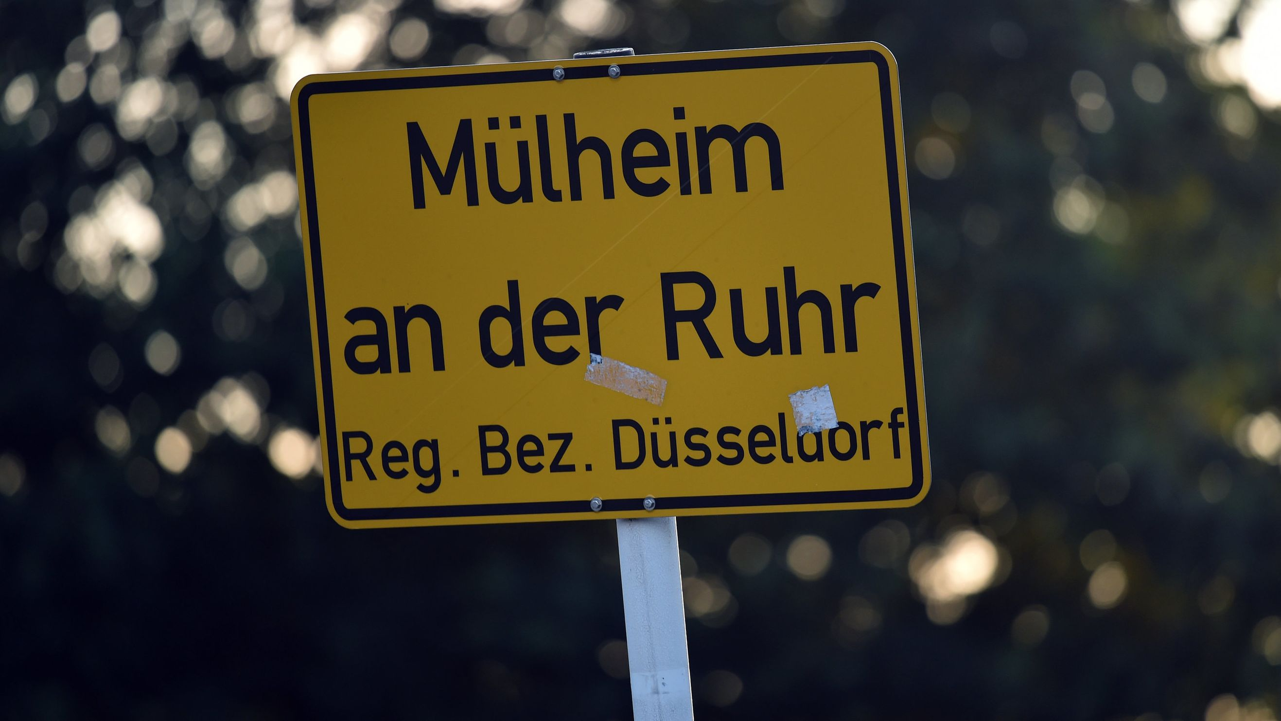 Das Ortsschild von Mülheim an der Ruhr