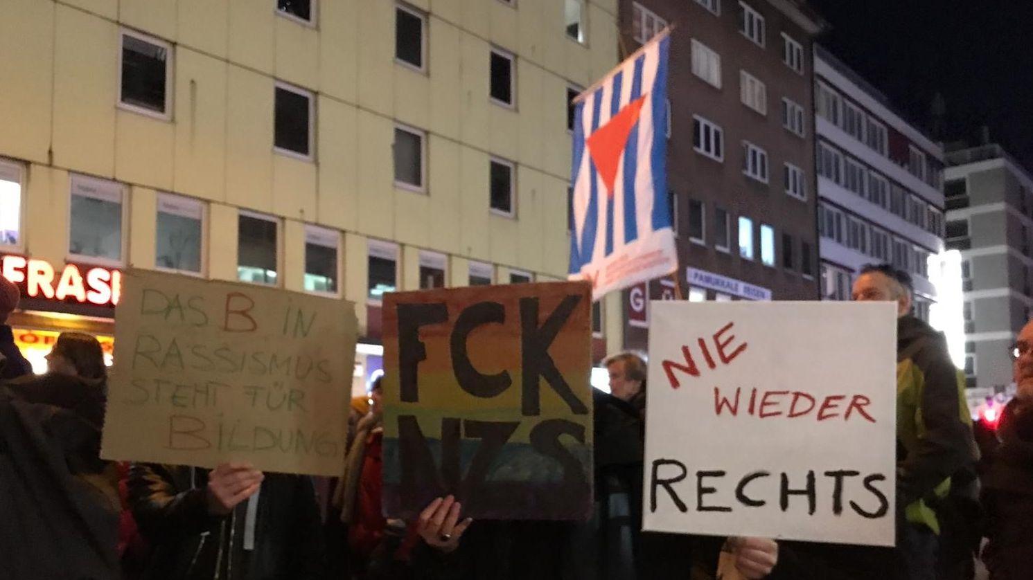 Demonstration in München.