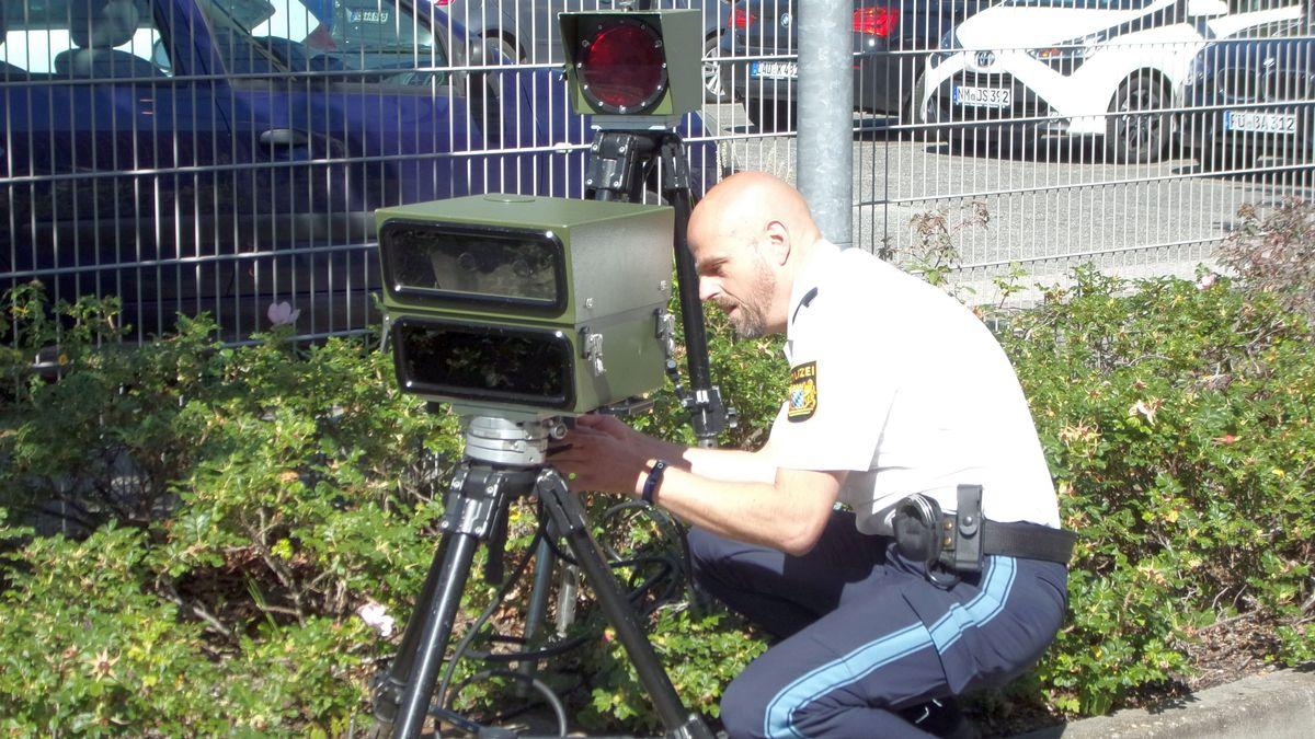 Blitzeranlage der Polizei Nürnberg