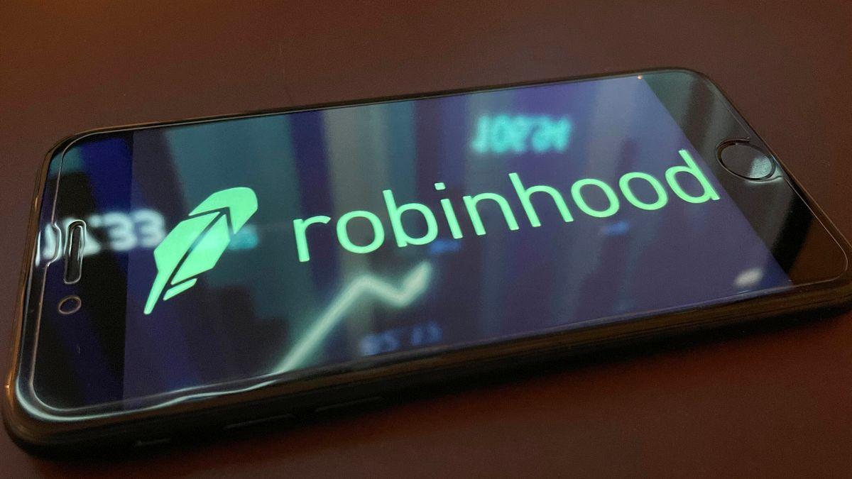 Robinhood-Logo auf Smartphone