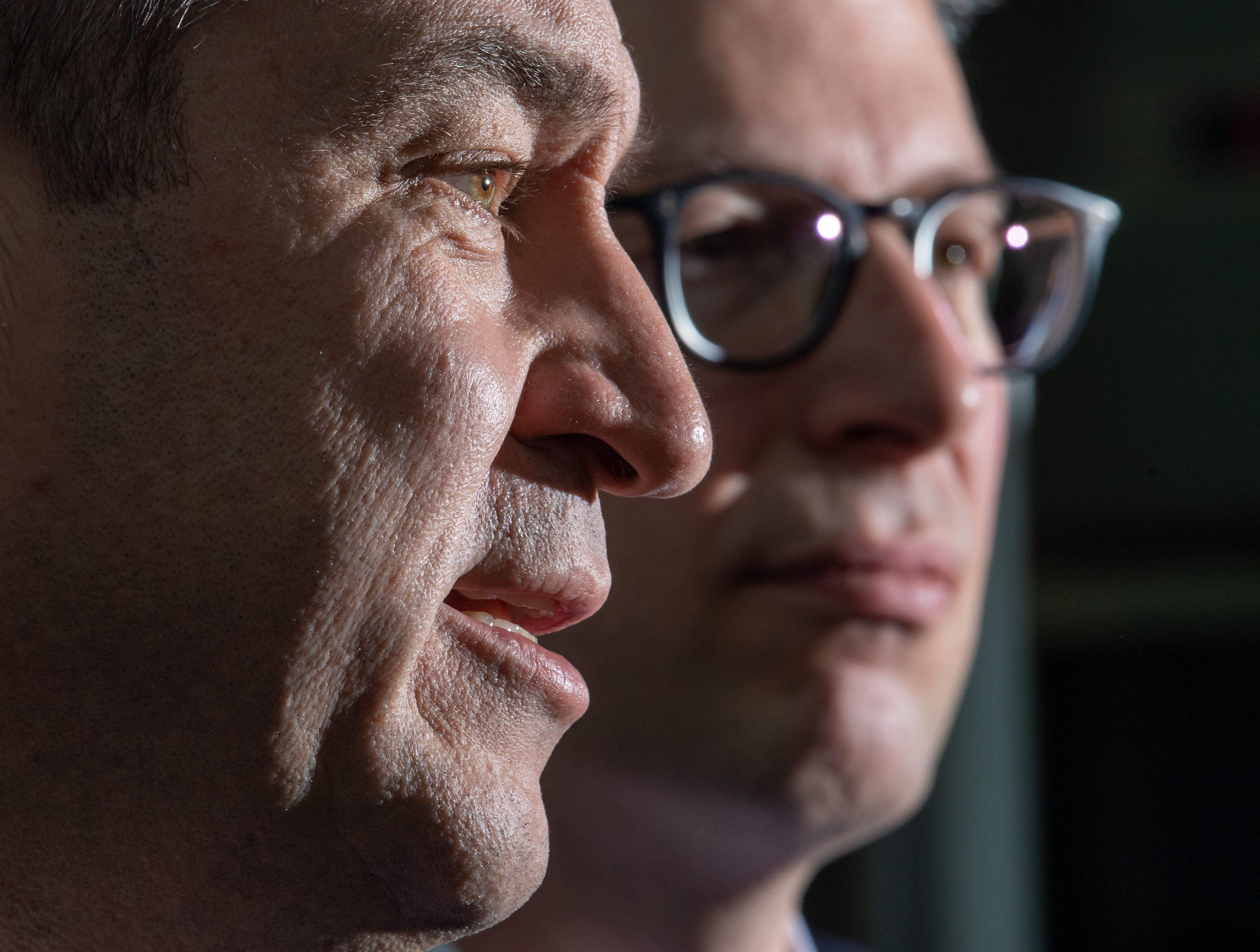 CSU-Parteichef Söder und CSU-Generalsekretär Blume