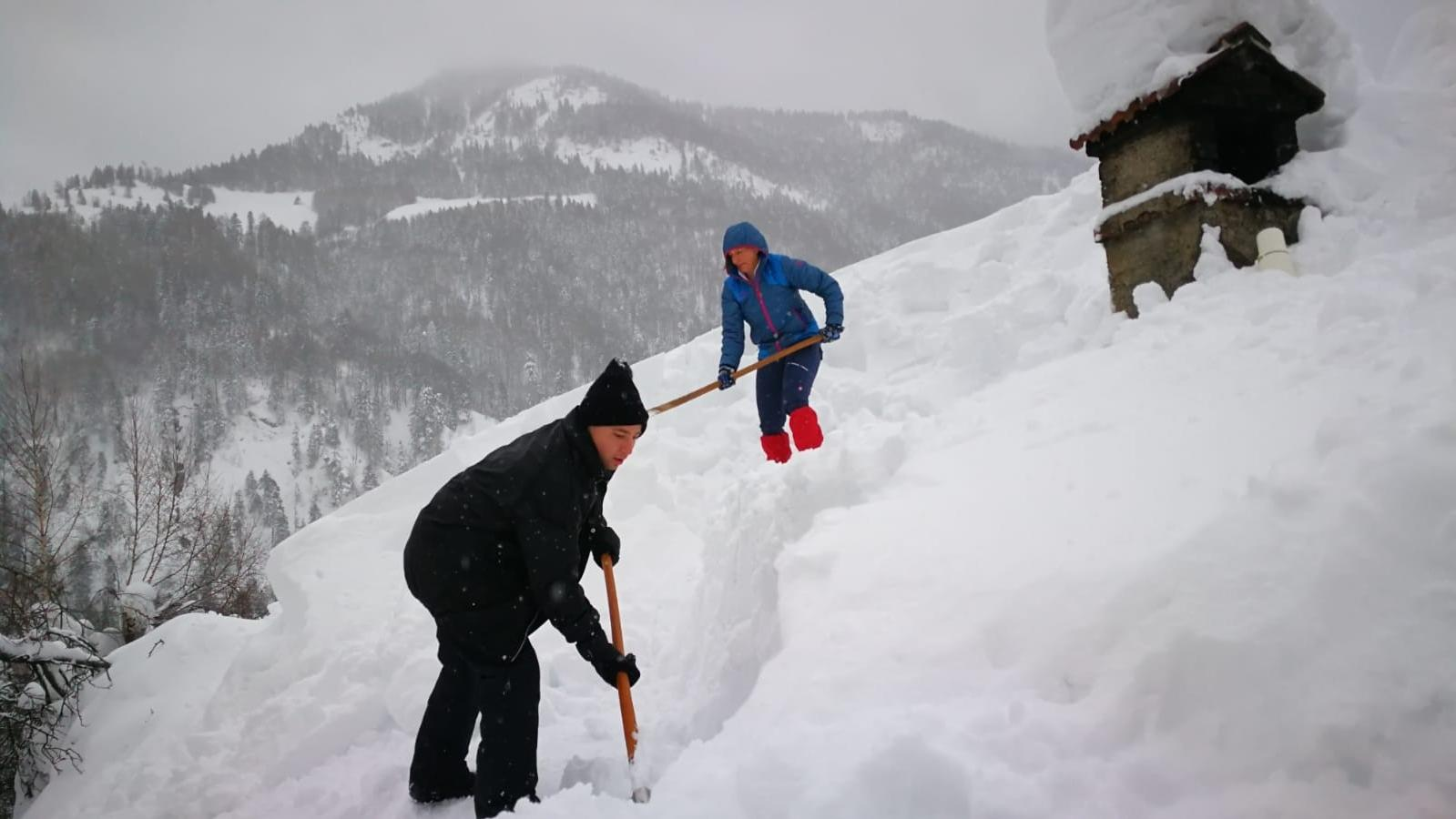 Schneemassen im Priental