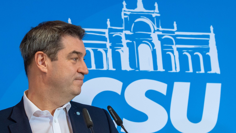 Markus Söder, aufgenommen am letzten Tag der Klausurtagung der CSU-Landtagsfraktion in Kloster Seeon.