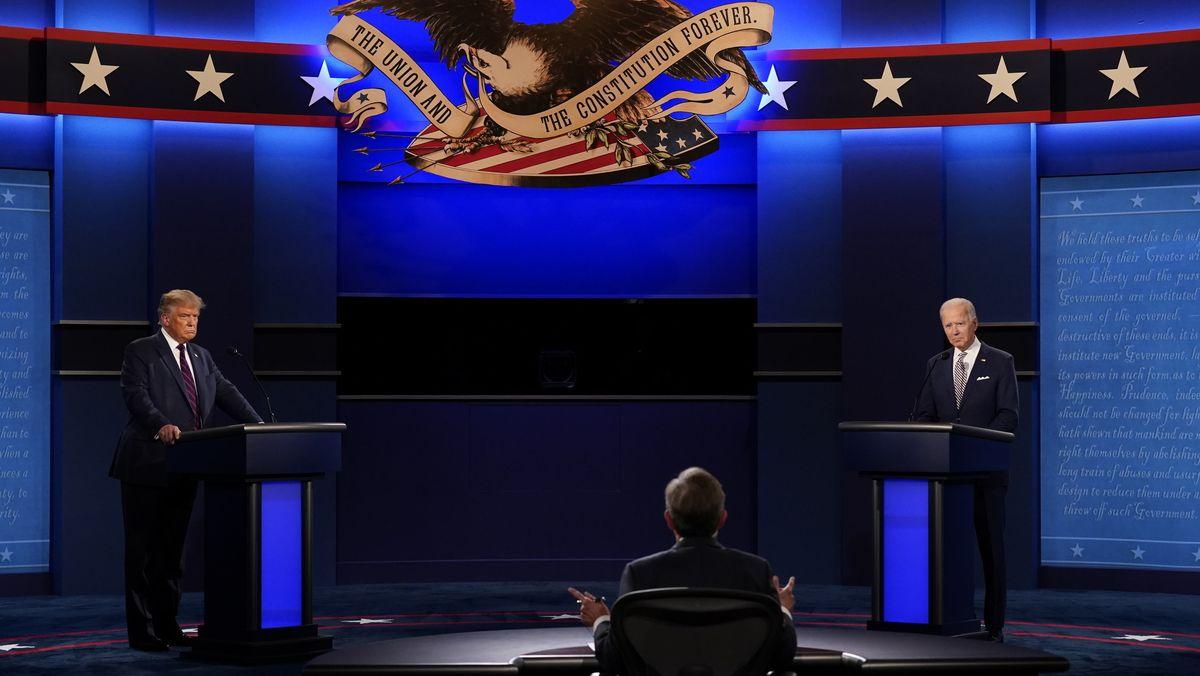 Trump und Biden bei der ersten TV-Debatte
