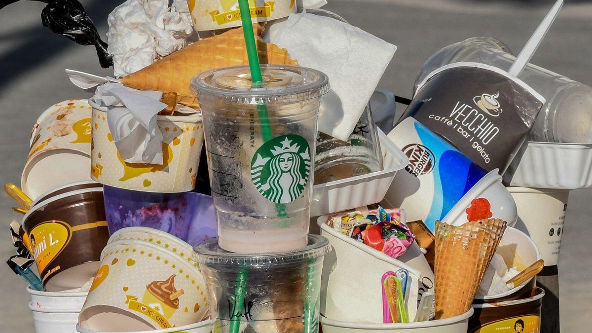 Ein Großteil der Verpackungen von Fast-Food-Ketten besteht ganz oder teilweise aus Plastik