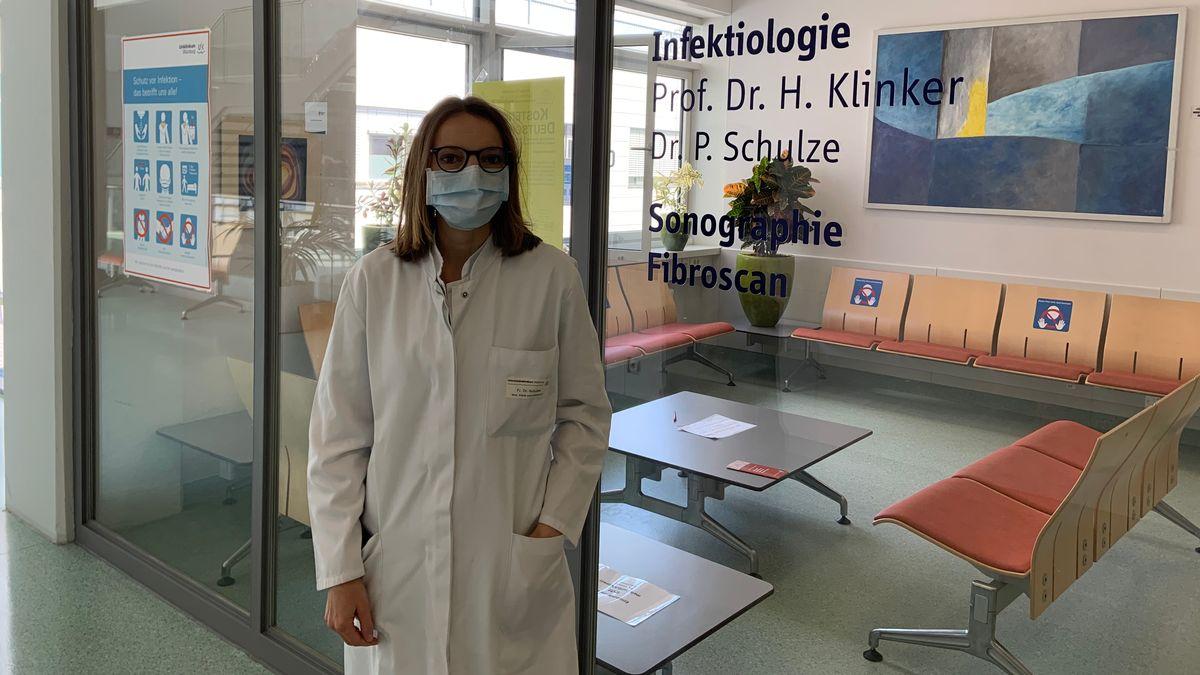 Dr. Petra Schulze, Internistin und Infektiologin an den Uniklinik Würzburg