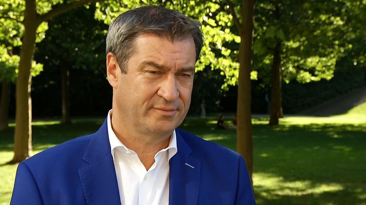 Bayerns Ministerpräsident Markus Söder hat den geplanten Truppenabzug der US-Streitkräfte aus Bayern kritisiert