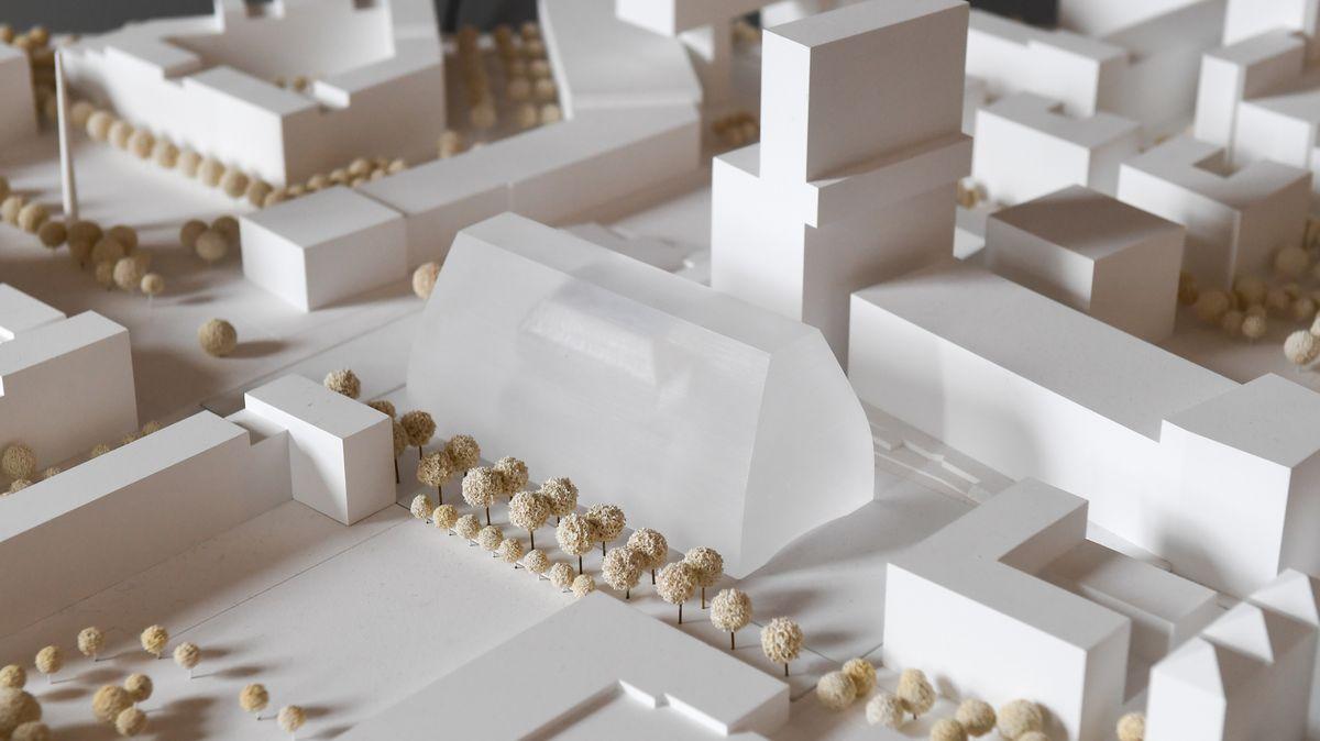 Das Sieger-Modell für das neue Münchner Konzerthaus des Architekturbüros Cukrowicz Nachbaur Architekten wird am 28.10.2017 in München (Bayern) präsentiert. Die bayerische Staatsregierung präsentiert den Sieger des Architektenwettbewerbs für das Prestigeprojekt des neuen Konzerthauses für den rund 30 Architekturbüros Entwürfe eingereicht hatten.