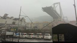 Eingestürzte Brücke in Genua | Bild:dpa-Bildfunk