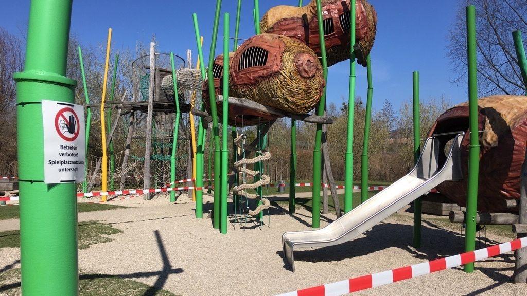 Gesperrte Spielplätze in Deggendorf