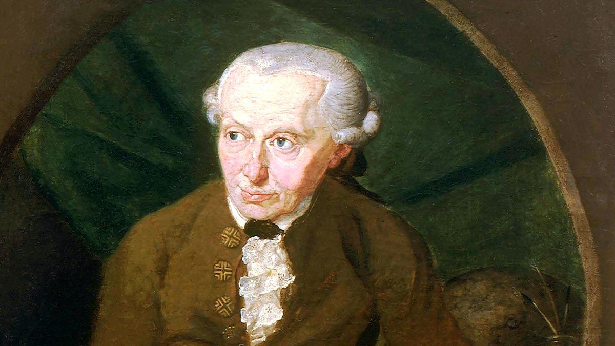 Immanuel Kant - Ölgemälde von Gottlieb Doebler