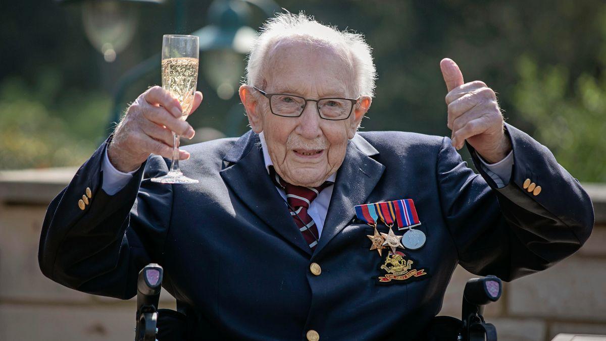 Tom Moore an seinem 100. Geburtstag